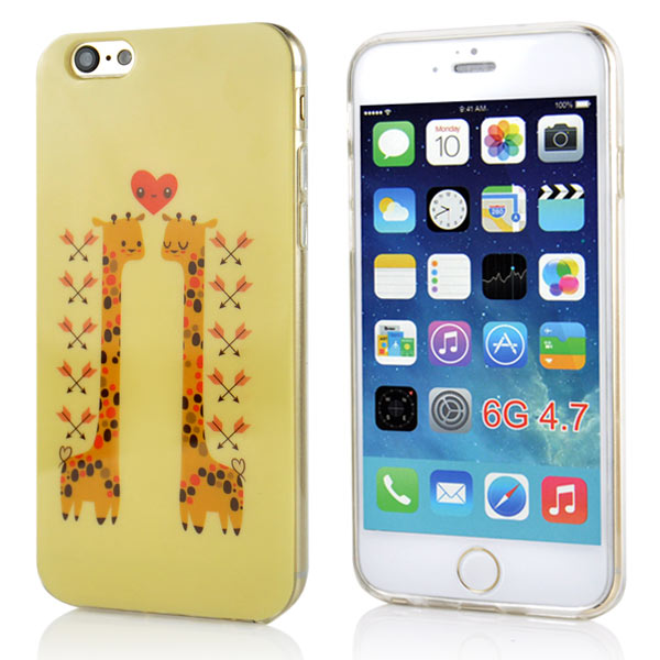 Slicoo iPhone 6 / 6S kryt Two Giraffes  TPU