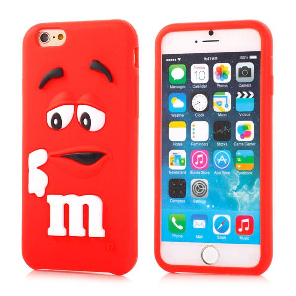 Slicoo iPhone 6   6S kryt silikonový Cute 3D M M S červený empty 37355a39598