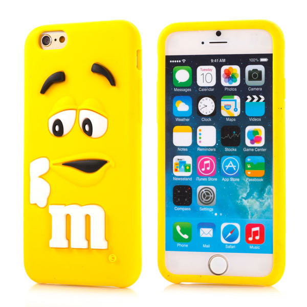 Slicoo iPhone 6   6S kryt silikonový Cute 3D M M S žlutý empty 6ce3b9b75bd