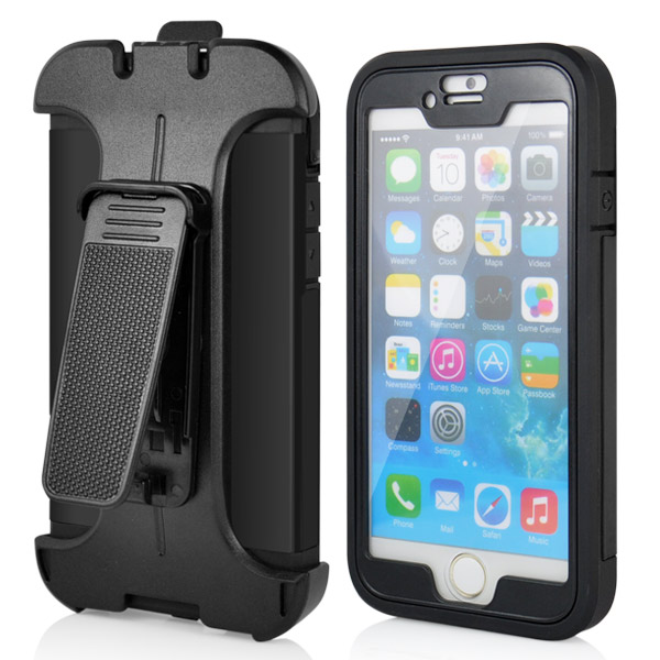 Slicoo iPhone 6 / 6S kryt Belt Clip Holster černý