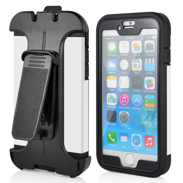 Slicoo iPhone 6 / 6S kryt Belt Clip Holster bílý