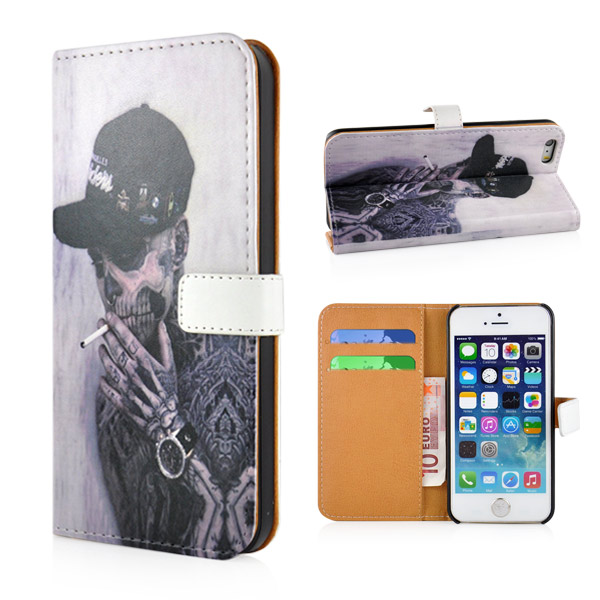 Slicoo iPhone 5 / 5S / SE Pouzdro Smoking Skull