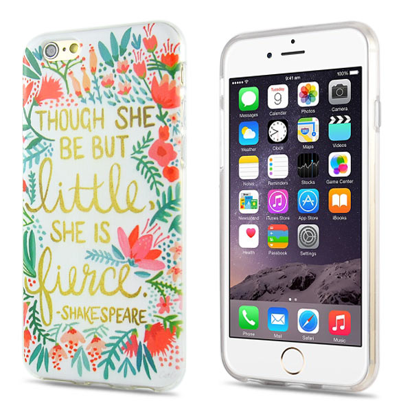 Slicoo iPhone 6 / 6S kryt Though She Be But Little TPU
