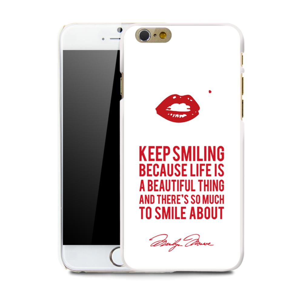 Slicoo iPhone 6 / 6S kryt Red Smile