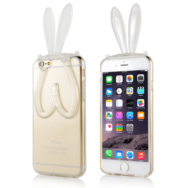 Slicoo iPhone 6 / 6S kryt 3D Rabbit čirý