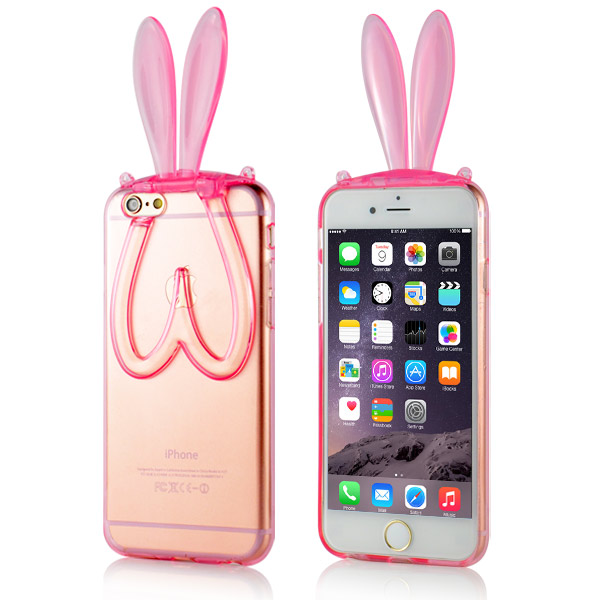 Slicoo iPhone 6 / 6S kryt 3D Rabbit růžový