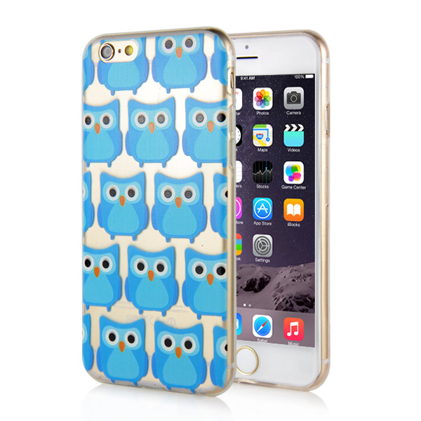 Slicoo iPhone 6 / 6S kryt Blue Owls