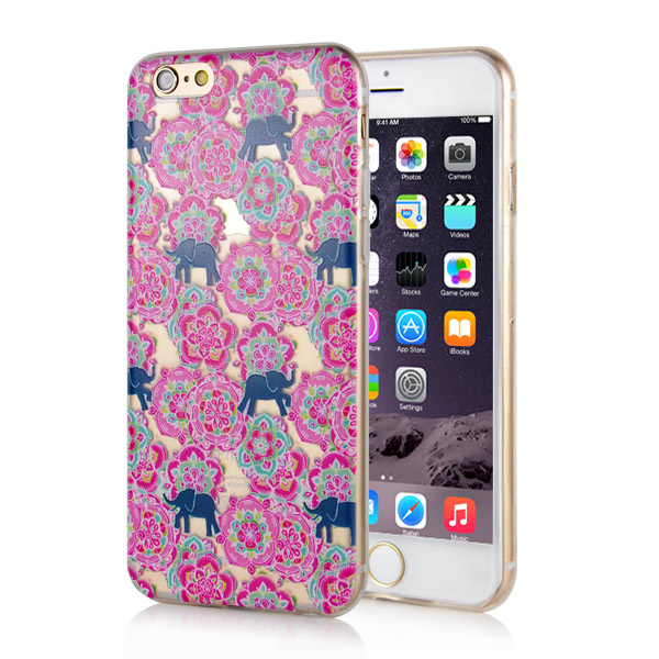 Slicoo iPhone 6 / 6S kryt Elephants And Butterflies