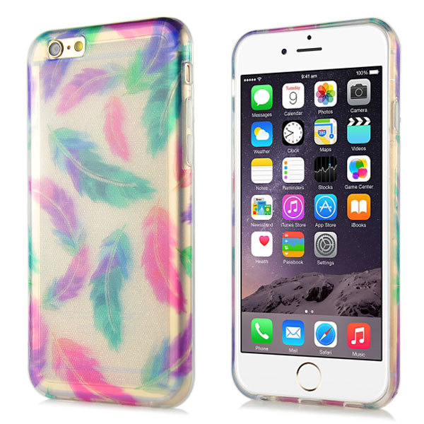 Slicoo iPhone 6 / 6S kryt Glitter Feather