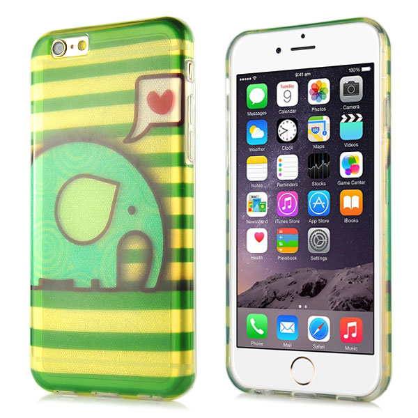 Slicoo iPhone 6 / 6S kryt Glitter Little Elephant