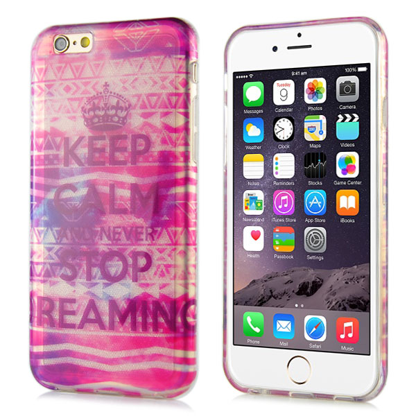 Slicoo iPhone 6 / 6S kryt Glitter Never Stop