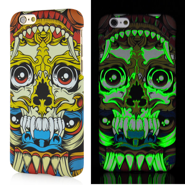 Luminous iPhone 6 / 6S kryt svítící Tusk Skull