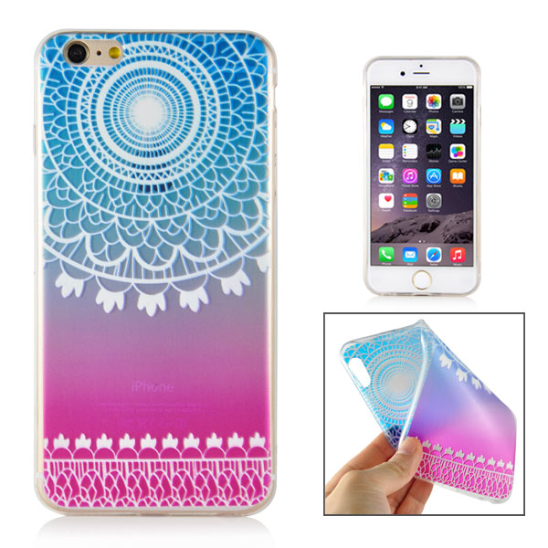 Slicoo iPhone 6 / 6S kryt Elegant Blue Rounded Flower