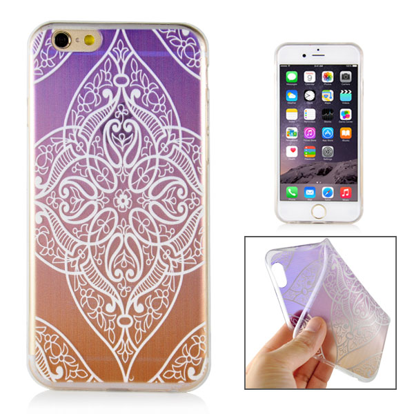 Slicoo iPhone 6 / 6S kryt Elegant Purple Diamond Flower