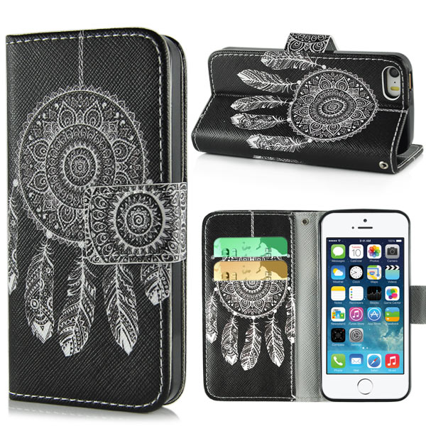 Slicoo iPhone 5 / 5S / SE Pouzdro Black Dreamcatcher