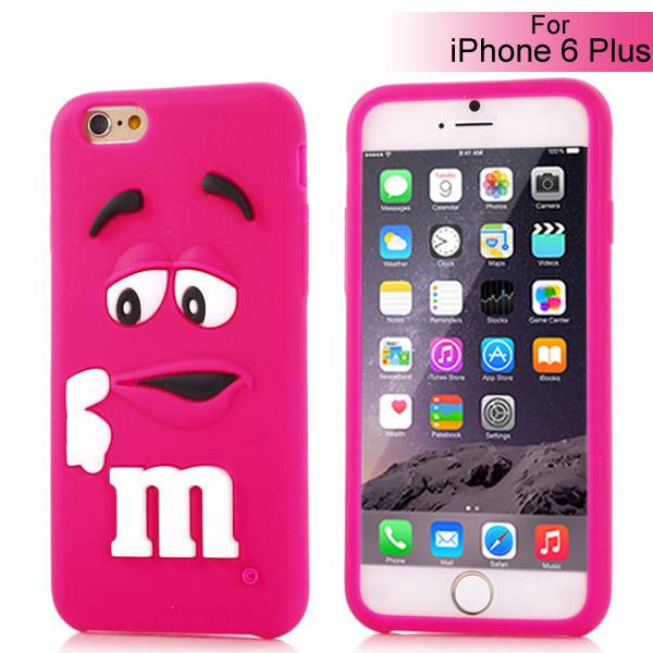 Slicoo iPhone 6 Plus   6S Plus kryt silikonový Cute 3D M M S růžový empty 0b86529204f