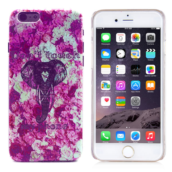 Slicoo iPhone 6 / 6S kryt Do Not Touch My Phone Little Cute Elephant