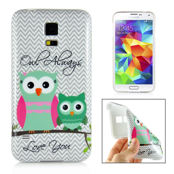 Slicoo Samsung Galaxy S5 kryt Colorful Owls
