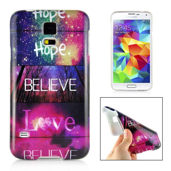 Slicoo Samsung Galaxy S5 kryt Hope Believe And Love
