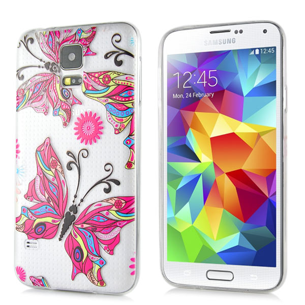 Slicoo Samsung Galaxy S5 kryt Colorful Butterfly
