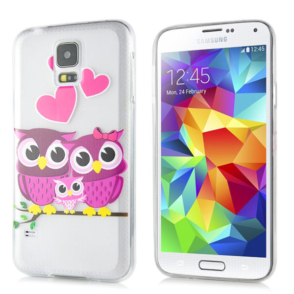Slicoo Samsung Galaxy S5 kryt Happy Owl Family
