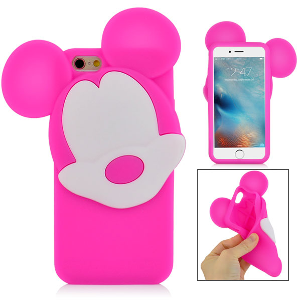 Slicoo iPhone 6   6S kryt 3D Mickey růžový empty be29046a6b3