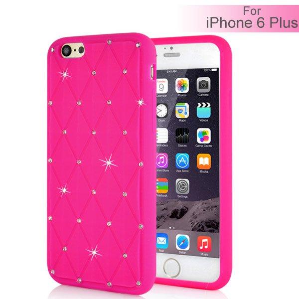 Slicoo iPhone 6 Plus   6S Plus kryt Rhinestone silikonový růžový empty 99ec142eb2c