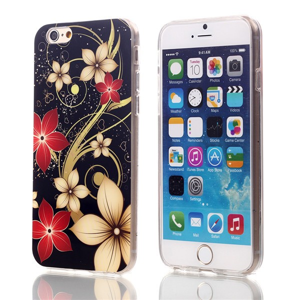 Slicoo iPhone 6 / 6S kryt gold flowers