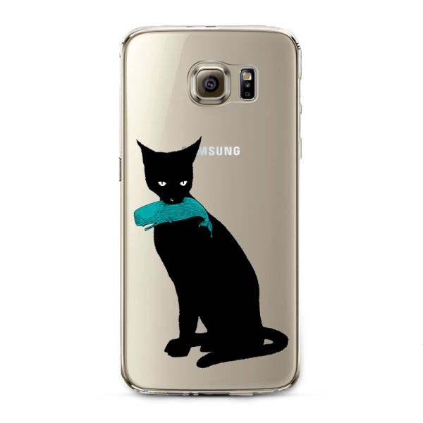 Kryt naSamsung Galaxy S6 Cat with fish