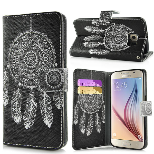 Pouzdro na Samsung Galaxy S6 Black White Dreamcatcher