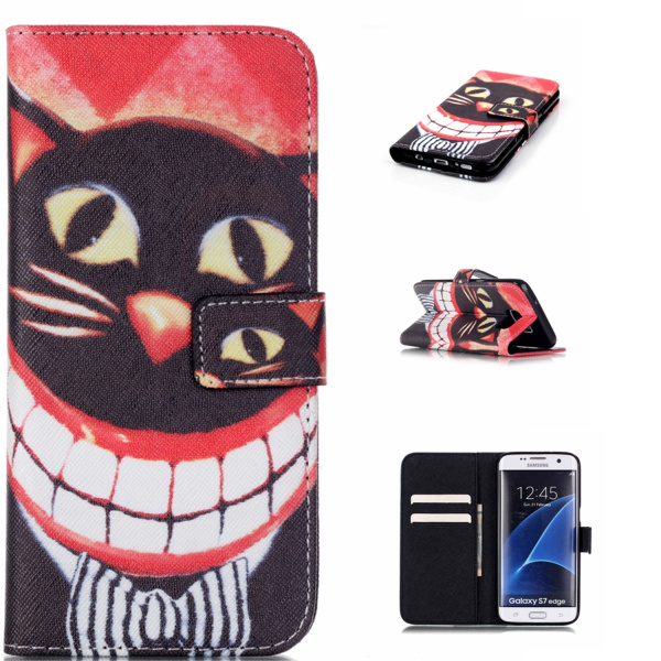 Pouzdro na Samsung Galaxy S7 Edge Smile Cat