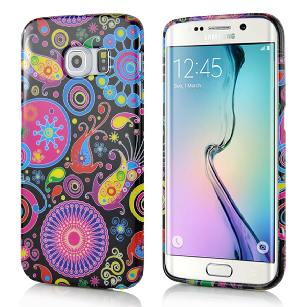 Slicoo Samsung Galaxy S6 Edge kryt Colorful Jellyfish