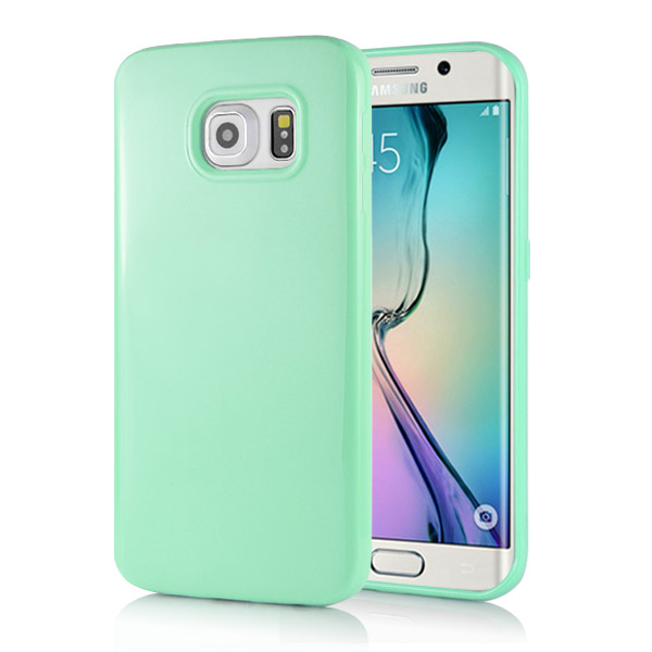 Kryt na Samsung Galaxy S6 Edge Candy Color zelené