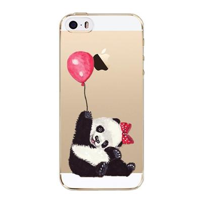 Slicoo iPhone 5   5S   SE kryt Panda s balonkem empty 45ab9dcd8d1