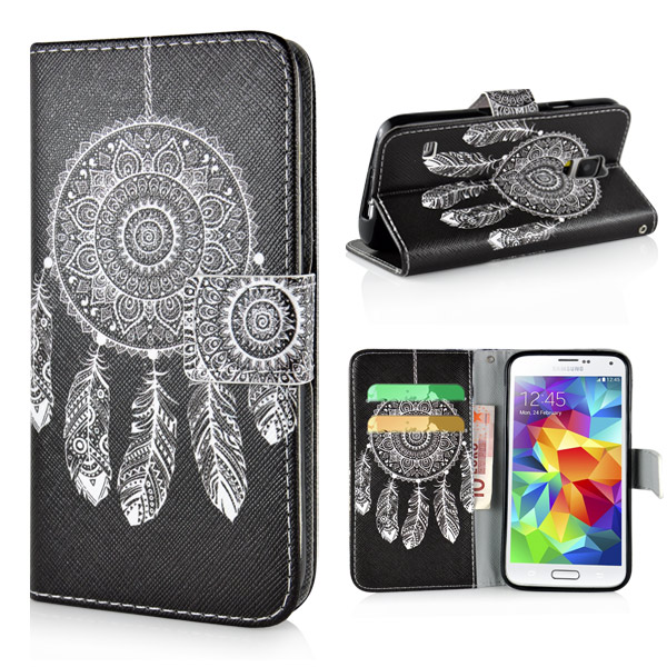 Slicoo Samsung Galaxy S5 pouzdro Black White Dreamcatcher