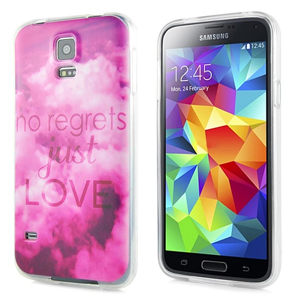 Slicoo Samsung Galaxy S5 kryt No Regrets Just Love