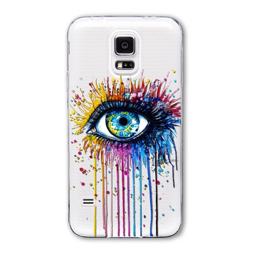 Slicoo Samsung Galaxy S5 kryt Colorful eye