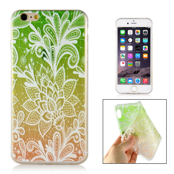 Slicoo iPhone 6 / 6S kryt Elegant Green Branch Flower