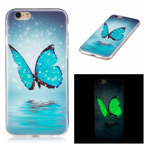 Luminous iPhone 6 / 6S kryt svítící Butterfly with Stars & Snow