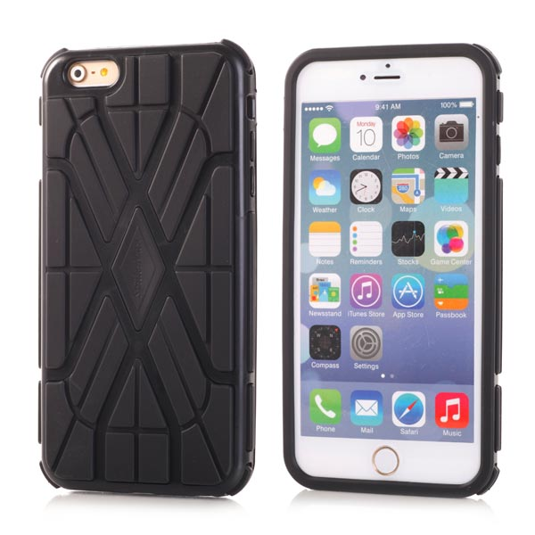 Slicoo iPhone 6 / 6S kryt Sleek Spider TPU černý
