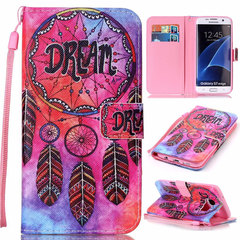 Pouzdro na Samsung Galaxy S7 Edge Colorful dreamcatcher