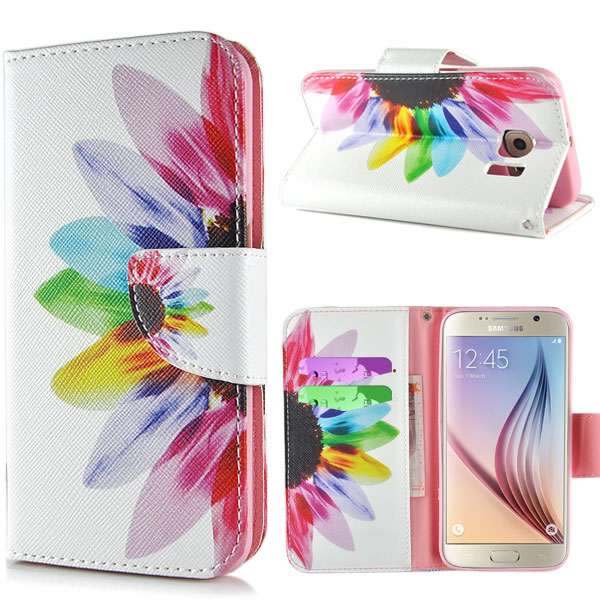Pouzdro na Samsung Galaxy S7 Edge Rainbow Flower