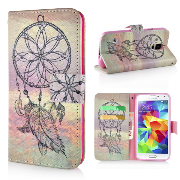Slicoo Samsung Galaxy S5 pouzdro Yellow Dreamcatcher