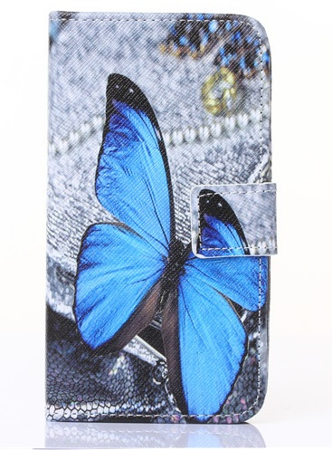 Slicoo Samsung Galaxy S5 pouzdro Blue butterfly