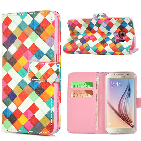 Pouzdro na Samsung Galaxy S6 Colored Rhombus