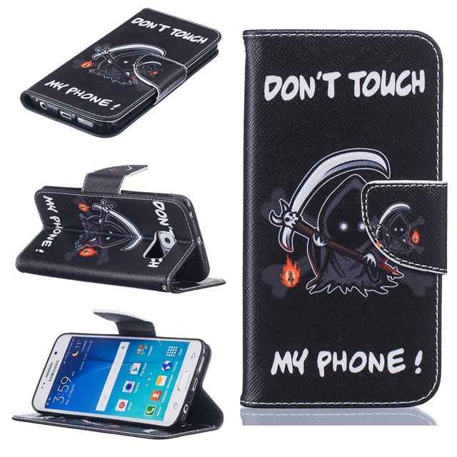 Pouzdro na Samsung Galaxy S6 Edge Don't Touch My Phone Demon