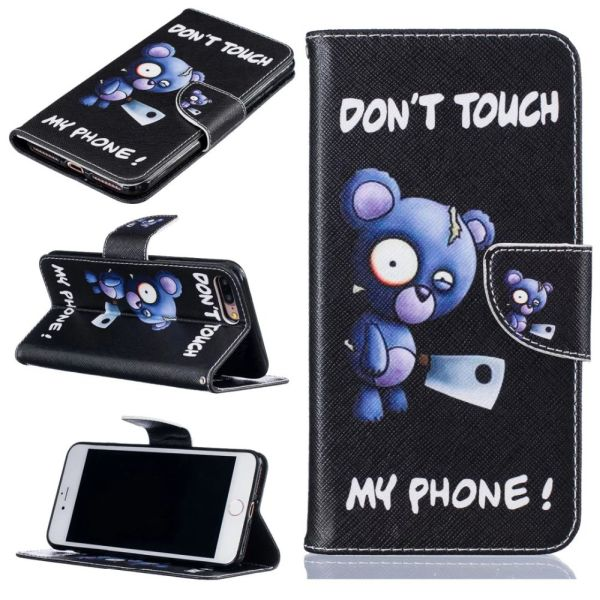 Pouzdro na iPhone 7 Plus / 8 Plus Don't Touch My Phone Angry Bear