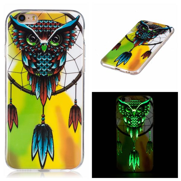 Kryt na iPhone 6 / 6S svítící Sova Owl Old School Horde