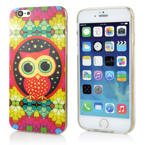 Slicoo iPhone 6 / 6S kryt Red Owl TPU