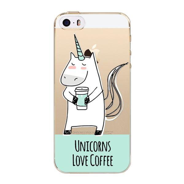 Slicoo iPhone 5   5S   SE kryt Jednorožec kafe empty 49bebeae05c